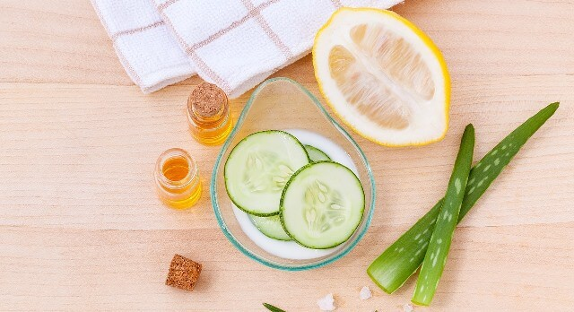 Cucumber, Lemon and Egg Mask