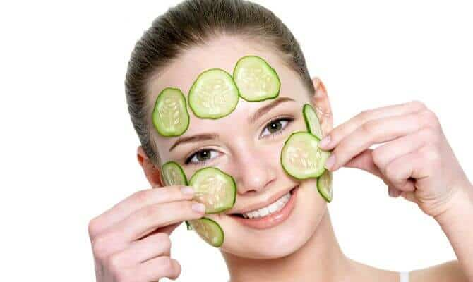 Cucumber Mask To Reduce Redness On Cheek