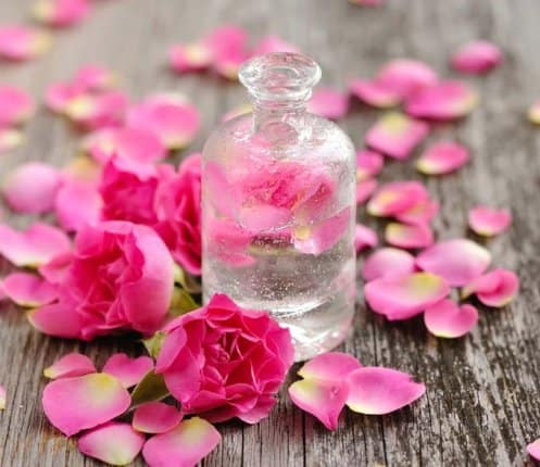 Wash with rose water