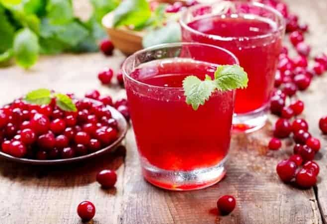 Cranberry coconut lime rickey