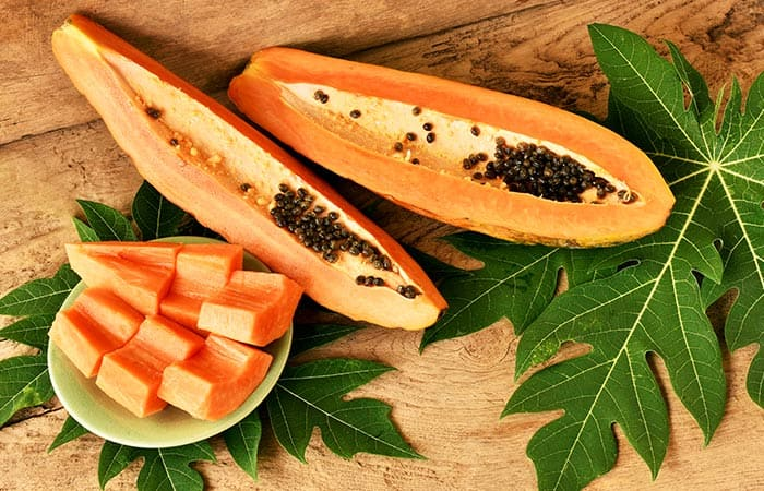 DIY face mask for acne using Papaya