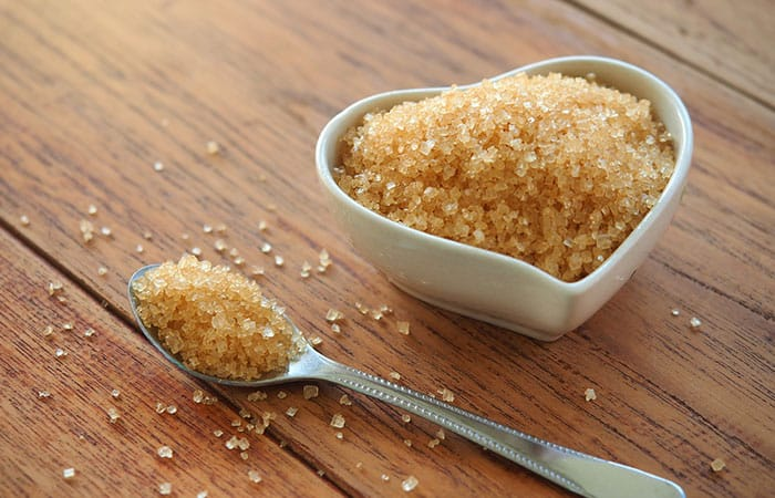 DIY face masks using brown sugar