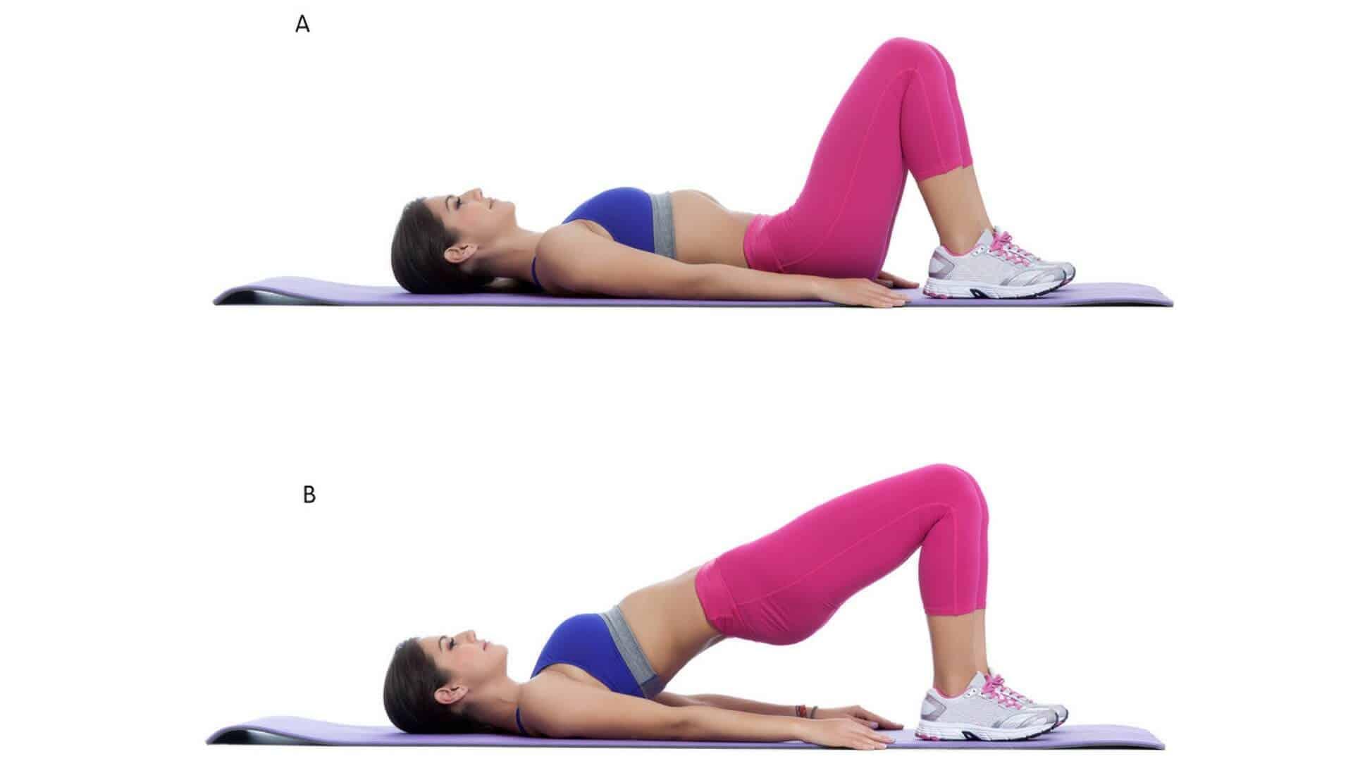 Bridging exercise t get rid of back spasm