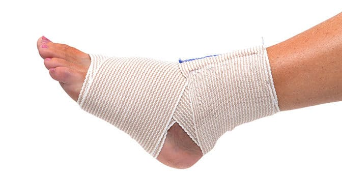Elastic Bandage for treating achilles tendon pain